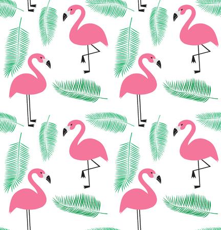 A seamless vector illustration pattern in flamingo EPS Illustration