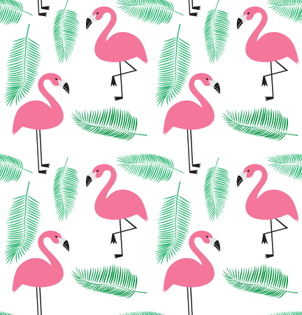 A seamless vector illustration pattern in flamingo EPS Vectores