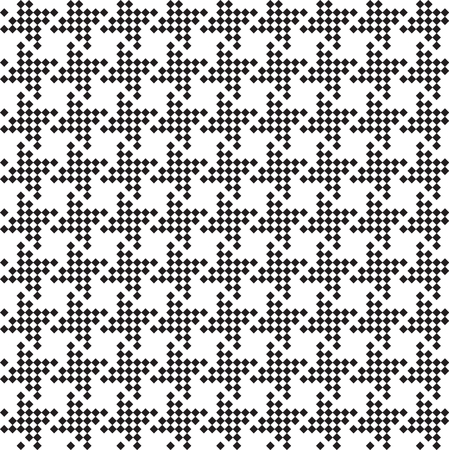 Seamless hounds-tooth pattern background with black and white.