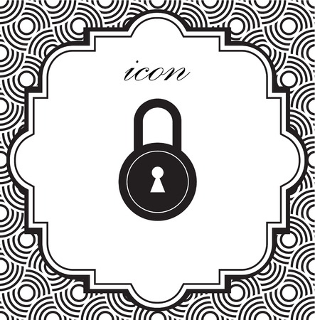Vector icon of a lock on a geometric background 矢量图像