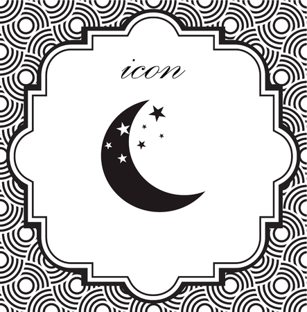 Vector icon moon on a geometric background  eps 向量圖像