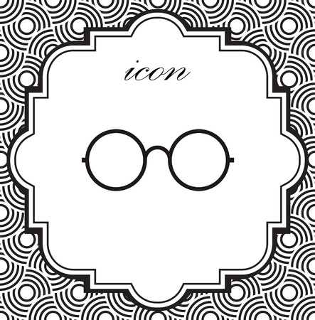 A Vector icon glasses on a geometric background