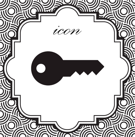 Vector icon keys on a geometric background of eps Illustration