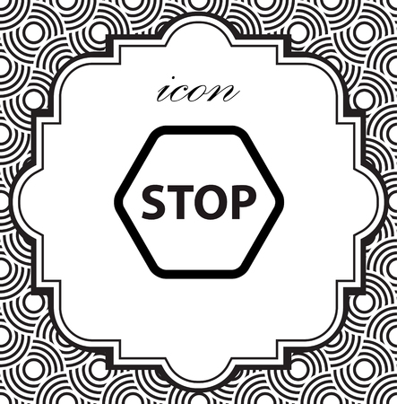 Vector stop icon on a geometric background of eps Illustration