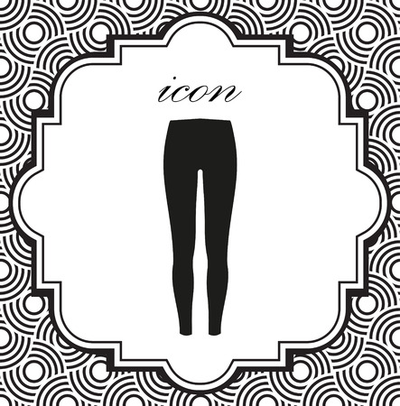 Pants icon on a geometric background of eps