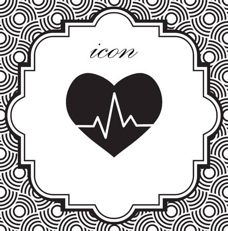 Vector icon cardiogram on a geometric background Illustration