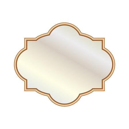 Illustrazione vettoriale diversi eleganti specchi di forma ovale Archivio Fotografico - 98732561