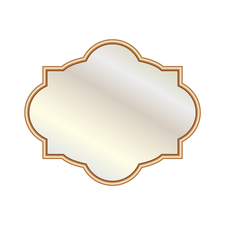 Vector Illustration different elegant oval shaped mirrors Ilustração