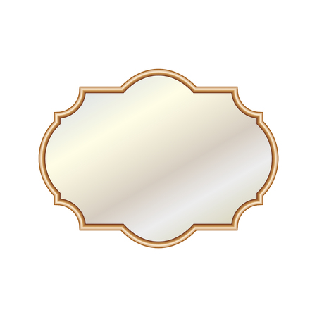 Vector Illustration different elegant oval shaped mirrors Stock Illustratie