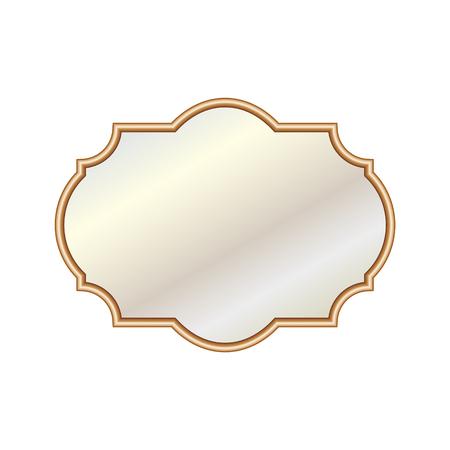 Vector illustratie verschillende elegante ovale spiegels Stock Illustratie