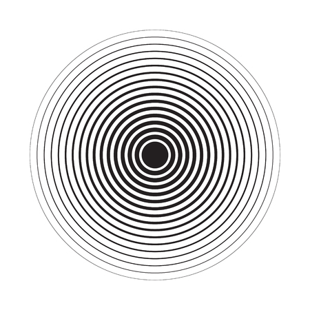 Concentric Circle Elements Backgrounds. Abstract circle pattern. Black and white graphics. EPS Illustration