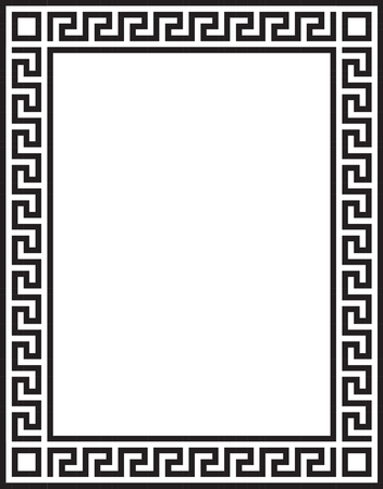 Decorative frame with greek ornament Illusztráció