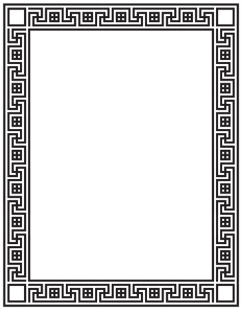 Decorative vector frame with greek ornament