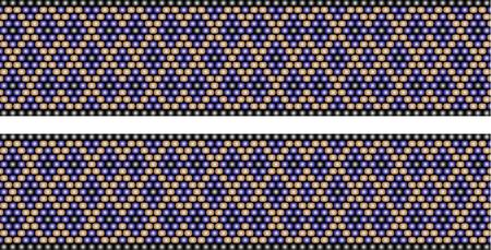 Trendy, modern ethnic beaded, border, pattern, embroidery cross diamonds stripe Stock Illustratie