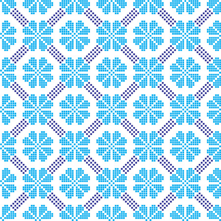 seamless embroidered national Ukraine ornament vector