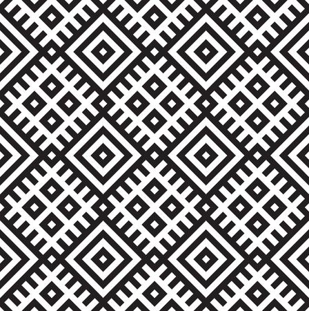Seamless black - white geometric pattern 向量圖像