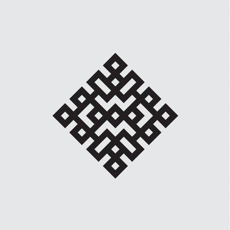 Illustration vectorielle noeud celtique noir et blanc, isolé Vecteurs