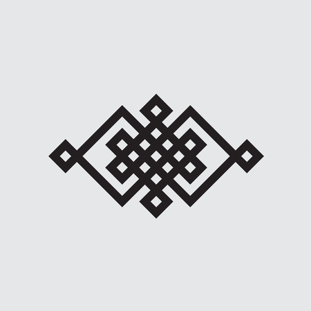 Celtic knot vector illustration black and white, isolated