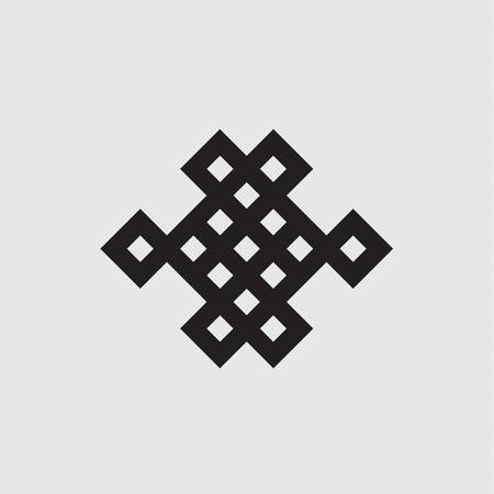 Illustration vectorielle noeud celtique noir et blanc, isolé