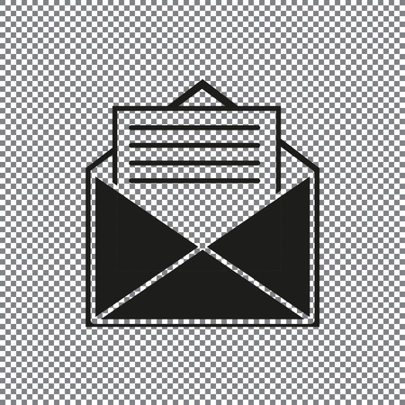 vector icon envelope on a transparent background