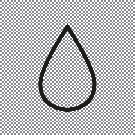 vector icon drop on a transparent background