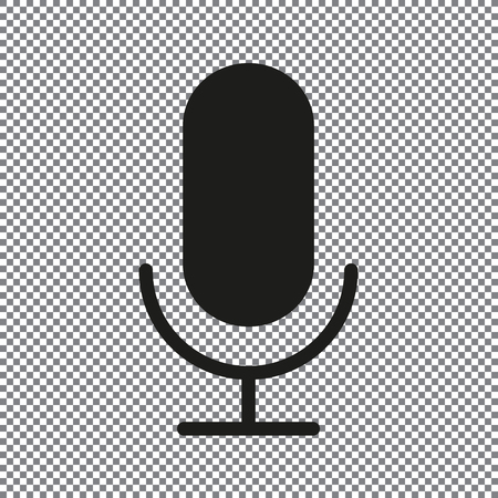 vector icon microphone on a transparent background