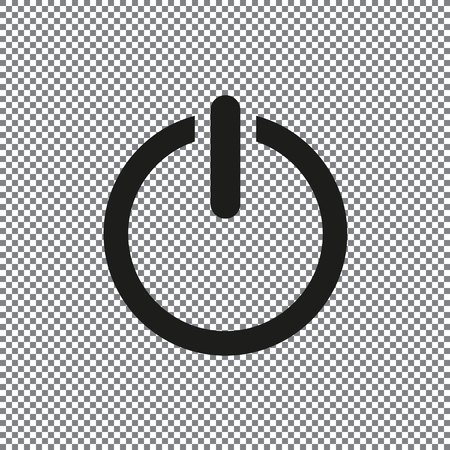 vector icon Power on a transparent background Stock Photo