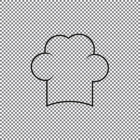 icon chef cap on a transparent background