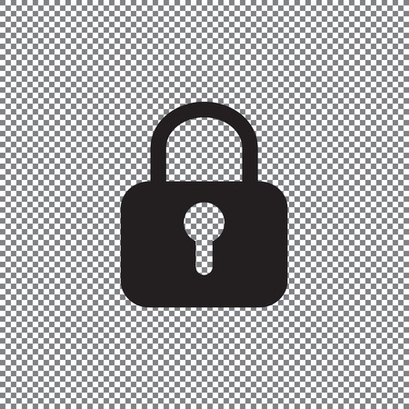 Lock icon on a transparent background
