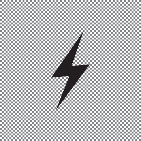 icon lightning on a transparent background