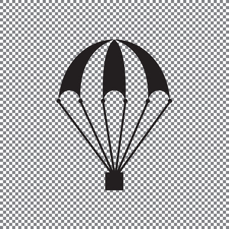 icon of a parachute on a transparent background