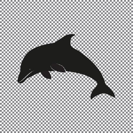 icon dolphin on a transparent background Ilustração