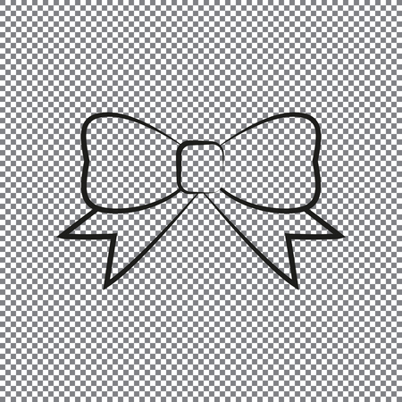 icon bow on a transparent background Illustration