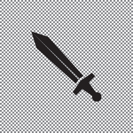 Vector icon sword on a transparent background Vettoriali