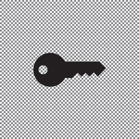 Vector icon keys on a transparent background Illustration
