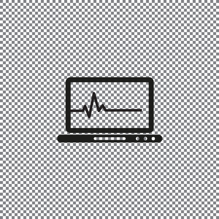 Medical record line icon. on a transparent background