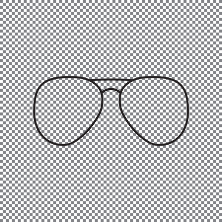 glasses icon on a transparent background vector