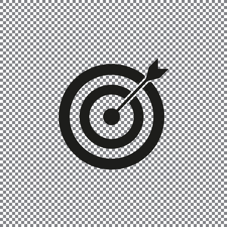 target icon on a transparent background vector Çizim