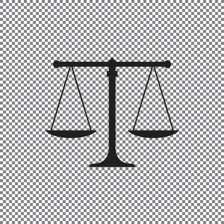 Scale icon, balance vector on a transparent background