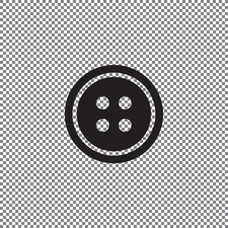 Kleiderknopfsatz mit Nadel auf transparentem Hintergrund Vektorgrafik