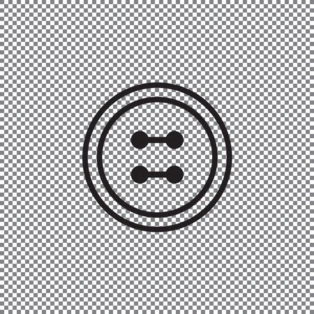 Kleiderknopfsatz mit Nadel auf transparentem Hintergrund