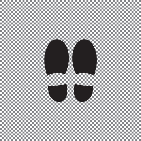 Footprint icon isolated on white background. Vector shoe print. on a transparent background