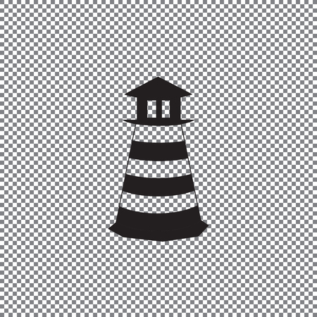 Lighthouse icon. Vector concept illustration for design. on a transparent background