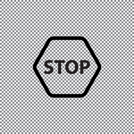Vector stop icon on a transparent background