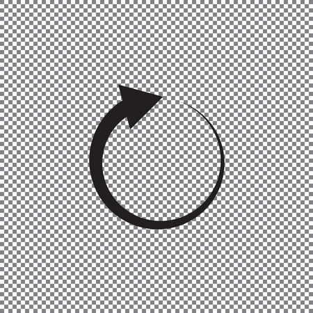 Undo Arrow Icon, Redo Arrow Icon. Direction arrow sign. Motion icon. Arrow button. Illustration