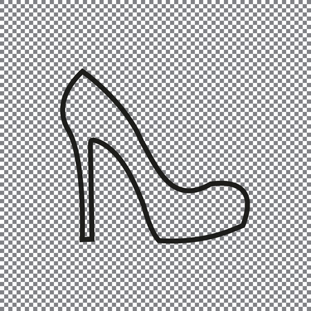 Vector icon female shoes on a transparent background