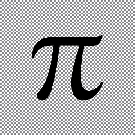 Vector sign Pi on a transparent background