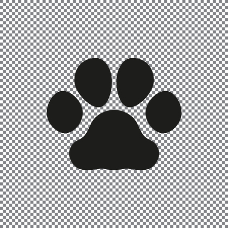 paw vector icons on a transparent background