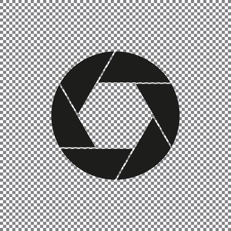 Aperture, camera lens symbol on a transparent background Illustration
