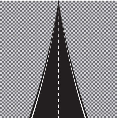 Vector winding road isolated on transparent background.